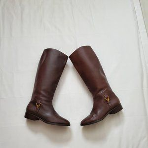 Etienne Aigner Womens All Leather Derby Boots 7.5M